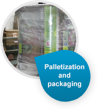 Palletization and protective packaging